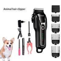 KEMEI Electric sierść psa trymer profesjonalny nóż nożycowy Grooming akumulator golarka Clipper 110 240V F30 w Trymery do włosów od AGD na