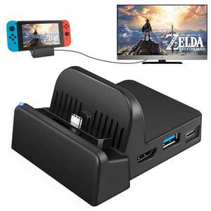 Switch Converter-Charging-Dock-Bracket Play-Stand-Holder Charging-Stand Nintendo Portable