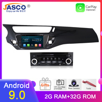 IPS Android 9.0 Car DVD Stereo Player GPS Glonass Navigation Multimedia for Citroen C3 DS3 2010 2013 2014 2016 Auto Radio Audio