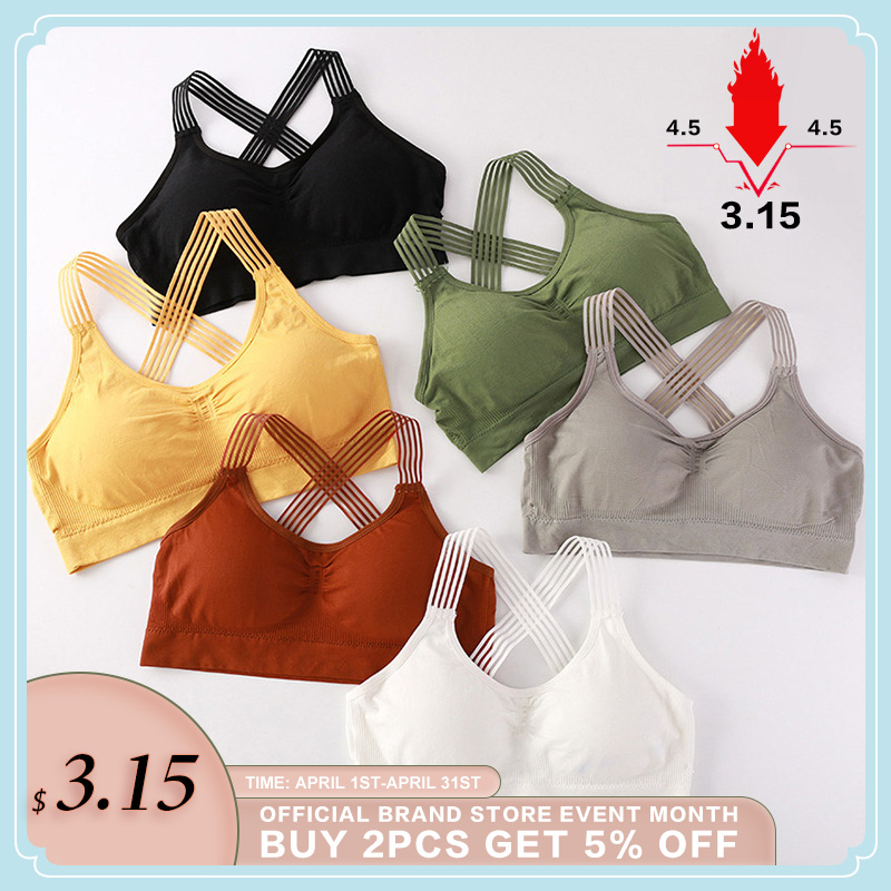 Women Yoga Sport Bra Women Shockproof Sexy Back Sports Bras Breathable Athletic Fitness Running Gym Vest Tops Sportswear Bras
