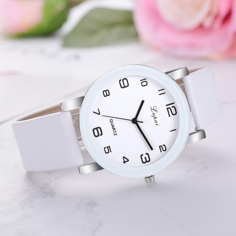 Lvpai Женские повседневные кварцевые часы с кожаным ремешком аналоговые наручные часы