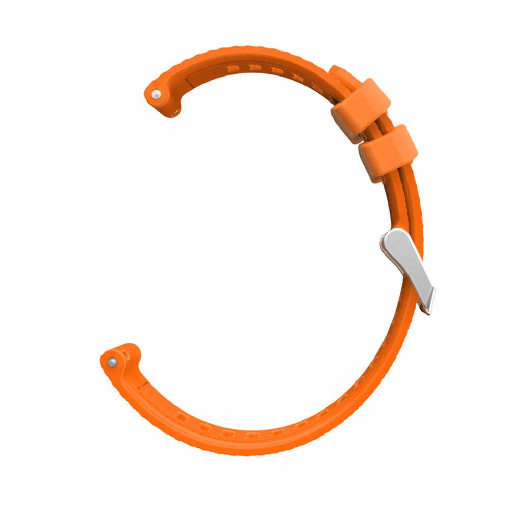 20mm סיליקון שעון רצועת צמיד צמיד עבור Garmin vivoactive Forerunner 245 645 גישה S40 לסמסונג גלקסי שעון 42mm