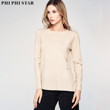 Phi Star Brand Women Full Sleeve Sweaters Knitted Pullover Ladies Thin Loose Sweater