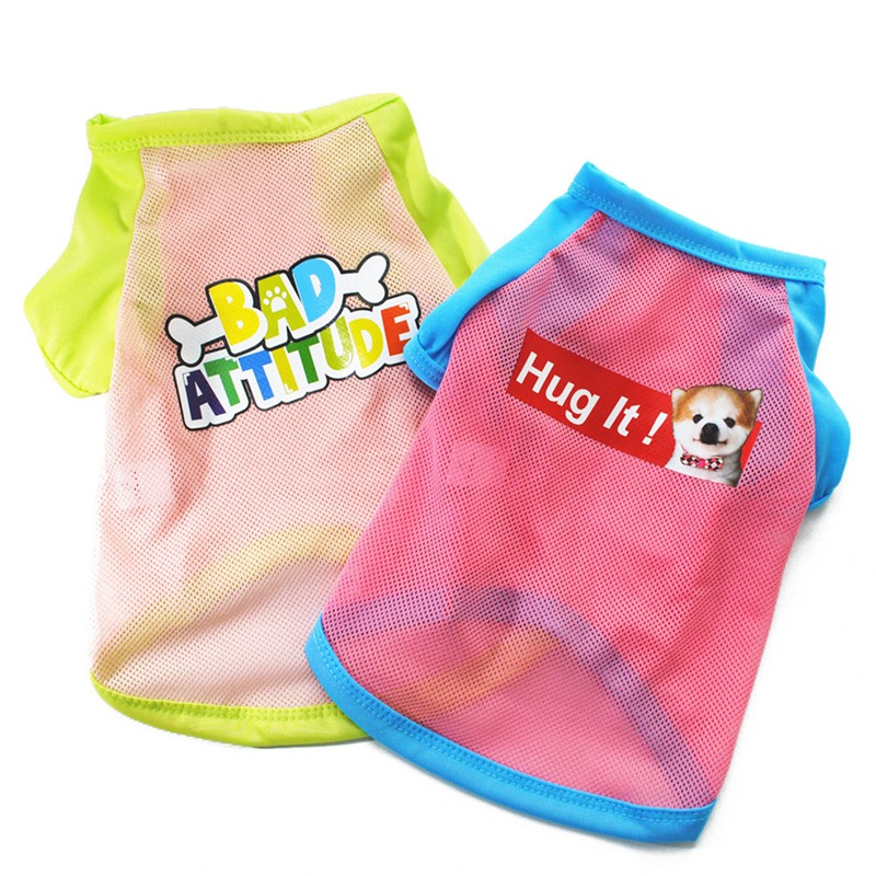 Summer Dog Clothes for Small Dog Clothing Pet Mesh Breathable Vest for Dogs Jacket Clothing for Chihuahua Pet Puppy Costume 6