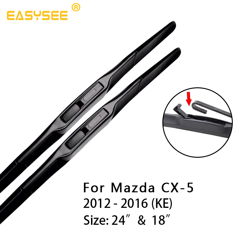 Windscreen windshield Wiper Blades for <font><b>Mazda</b></font> CX-5 <font><b>CX5</b></font> KE KF Fit Hook Arms / Push button arm 2012 2013 2014 2015 <font><b>2016</b></font> 2017 2018 image