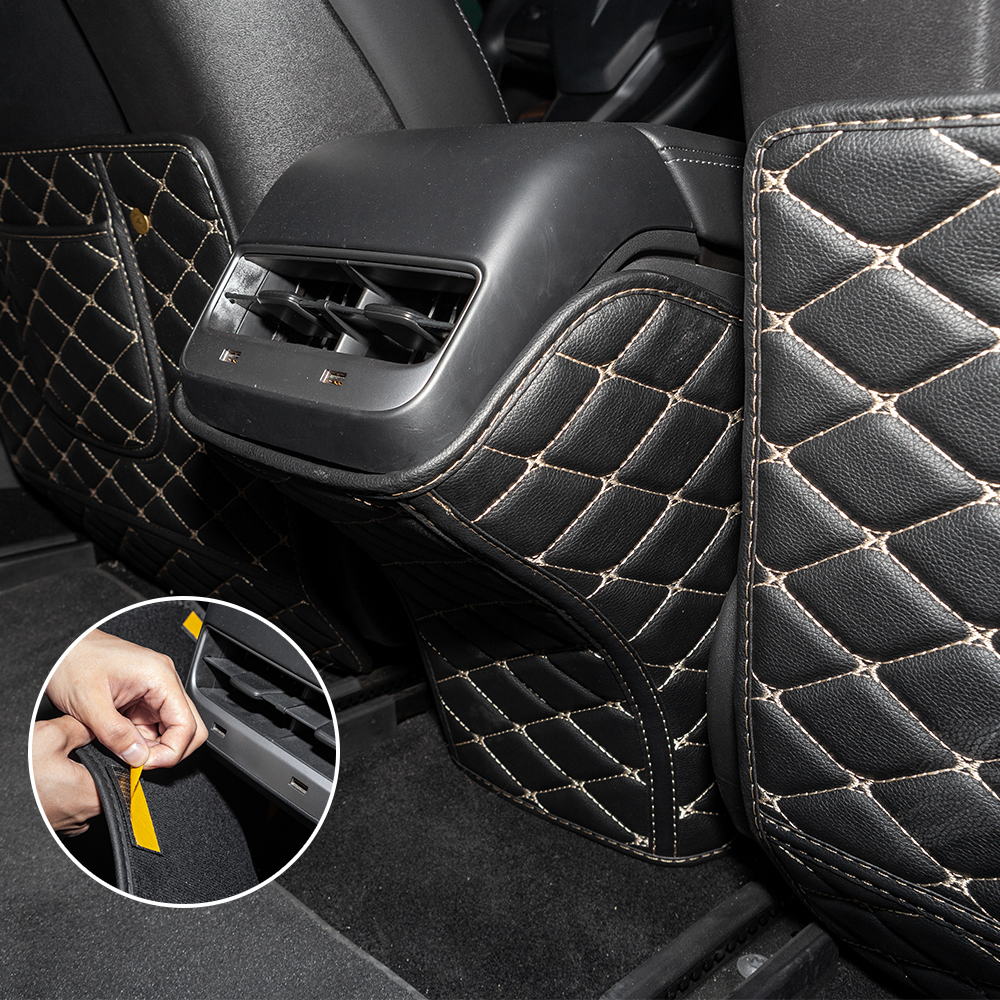 3PCS SET Seat Protector Mat Seat Back Cover Anti-kick Mat Pad for tesla model 3 2017-2020