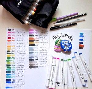 Image 4 - TOUCHNEW juego de marcadores artísticos de doble punta, 30/40/60/80 colores, marcadores a base de Alcohol para dibujo artesanal, suministros de rotuladores de diseño