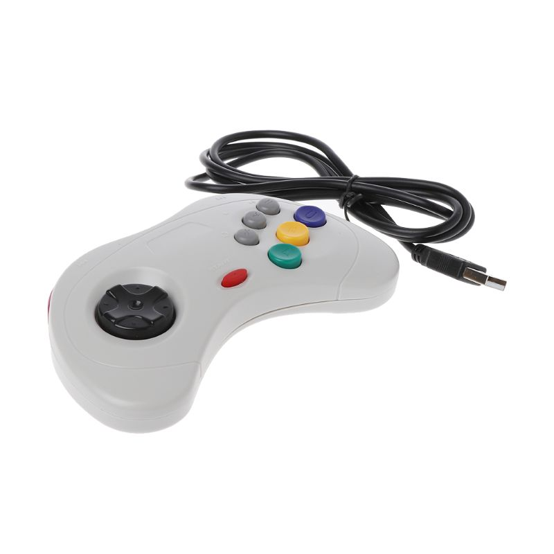Drop Wholesale USB Classic Gamepad Controller Wired Game Controller Joypad for Sega Saturn PC image