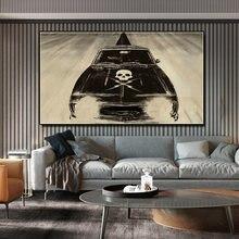 Настенные украшения для гостиной абстрактный череп ретро автомобильный