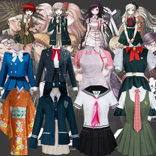 Dangan Ronpa 2 V2 V3 Chiaki Nanami Danganronpa Mikan Tsumiki przebranie na karnawał Shirogane Tsumugi kobiety Halloween mundurek szkolny