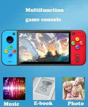 Nouveau 2020 Q50 5 pouces 128Bit Consola HD mp3/mp4 TFT/musique/vidéo Portable Console de jeu Portable pour lecteur de jeu Portable 8GB 1