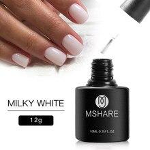 MSHARE молочно-белый Гель-лак для ногтей отмачиваемый 12 г