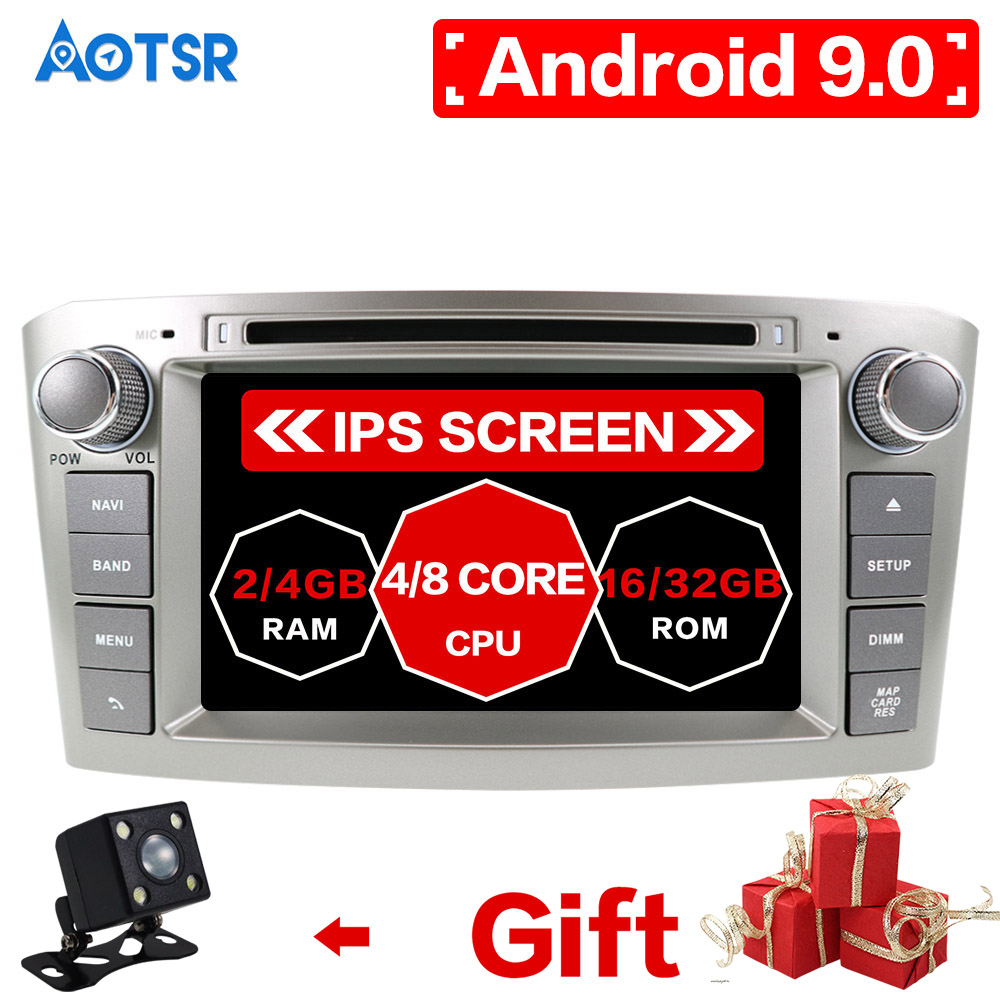 AOTSR <font><b>Android</b></font> 9.0 RAM 4G Have Stock DVD Stereo Multimedia For <font><b>Toyota</b></font> Avensis/<font><b>T25</b></font> 2003-2008 Radio GPS Navigation Video Car Player image