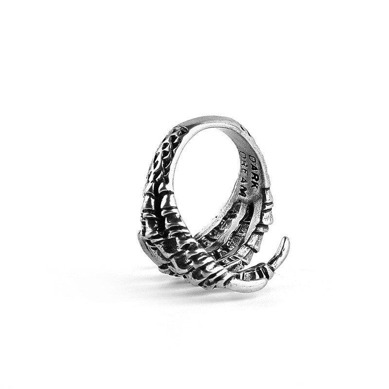 Bague griffes de métal dragon 4