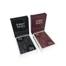 2 jogos/lote plástico poker cartão de alta qualidade texas hold'em jogos à prova dwaterproof água e maçante polonês jogar cartas de entretenimento jogo de tabuleiro