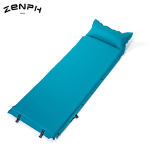 Zenph Outdoor Single Inflatable Mattress Ultralight Sleeping Pads Air Mattresses Camping Hiking Pad With Pillow