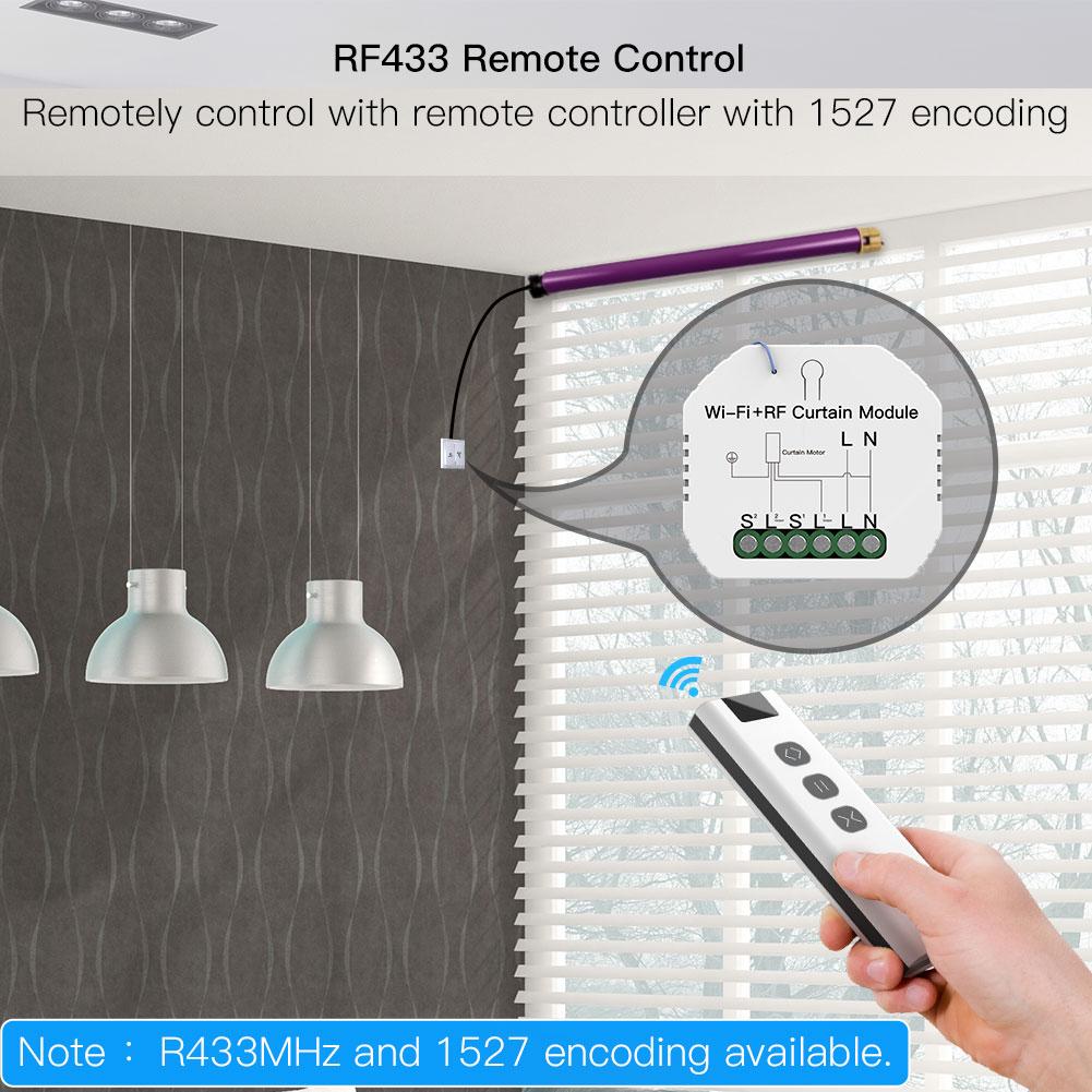 WiFi RF Smart Curtain Blinds Module Switch Roller Shutter Motor Tuya Wireless Remote Control Work with Alexa Google Home 3