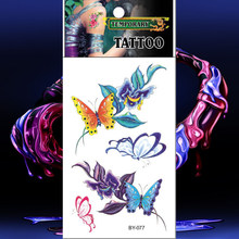 Waterproof Tattoos Temporary Tattoo Colorful Butterfly Sticker Animal Fake Tatto Men Women Flash Tatoo Tatouage Hand Arm Chest(China)
