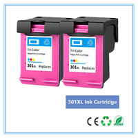 Color 301XL Refilled Ink Cartridge Replacement for hp 301 xl for hp301 CH563EE CH564EE for HP Deskjet 1000 1050 2050 3000