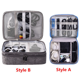 Travel Accessory Digital Bag Power Bank USB Charger Cable Earphone Storage Pouch Large Shockproof Electronic Organizer Package