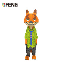 цена на LOZ Diamond Blocks Animals Assembly Action Figure Set Fox Educational Toys for Children Nick Cartoon Building Blocks Bricks Diy