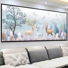 Jeleń przynoszący szczęście o specjalnym kształcie diamentowe malowanie 5D wiertła zestawy do domu w pełni z okrągłych zwierząt zestaw Handwork Cross Stitch mozaikowy prezent dekoracji