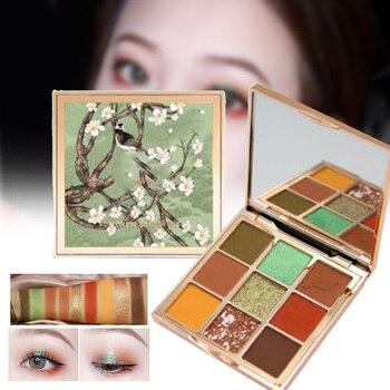La mejor paleta de sombras de ojos de 9 colores impermeable mate perlado Lustre tierra Color sombra de ojos QQ99