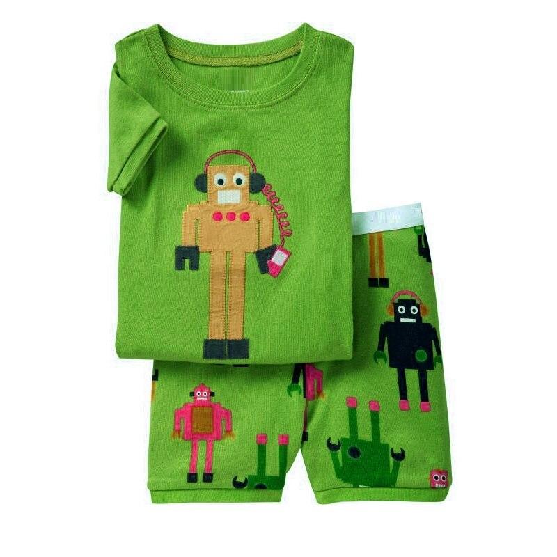 Robots Children Pajamas Sets Summer Short Pyjamas Boys clothes Pijama Suit Girls Sleepwear Nightgown Cotton T-Shirt Pants