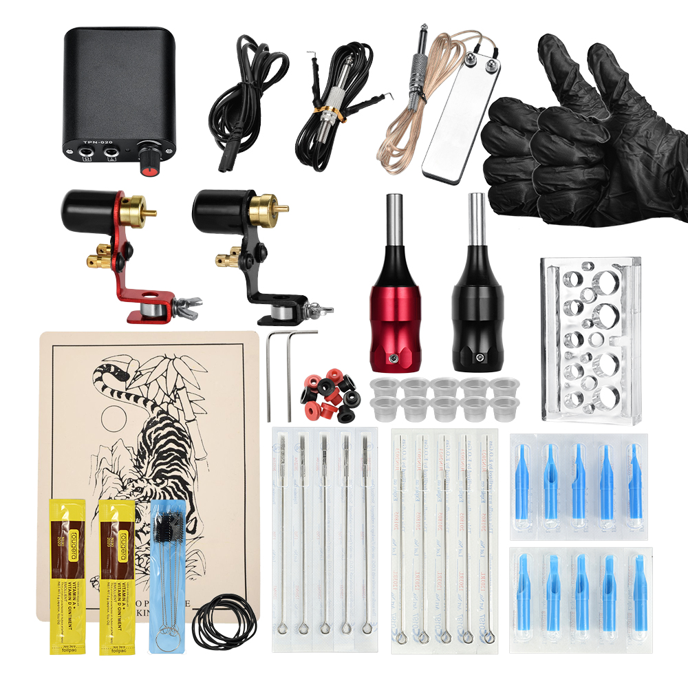 Rotary Tattoo Machine Shader & Liner Assorted Tatoo Motor Gun Kits Supply Permanent Makeup Maquiagem Tool Set For Artists