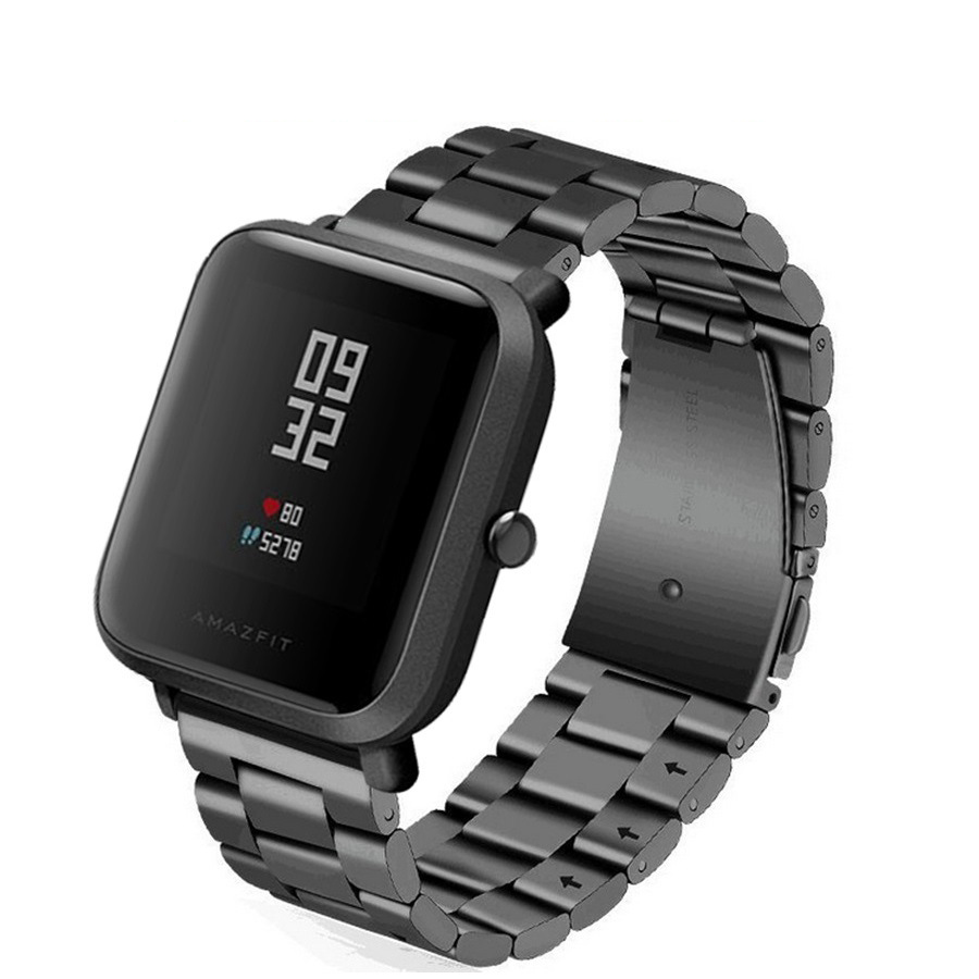 Metal Strap For Xiaomi Amazfit Bip Youth Smart Band Fitness Tracker Accessory Steel Belt For Huami Amazfit Bip Wristband Strap