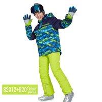 phibee XXS XXL Boys/Girls Ski Suit Waterproof Pants+Jacket Set Winter Sports Thickened Clothes Children's Ski Suits Drop Shippin