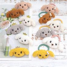 Hair Tie For Girl Kids Elastic Rubber Bands Child Korean Head Accessories Cartoon Plush Dog Rabbit Animal Scrunchies Wholesale
