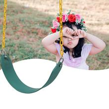 Heavy Duty Swing Outdoor Swing Set Thick Seat with Adjustable Ropes For Park Garden Playground