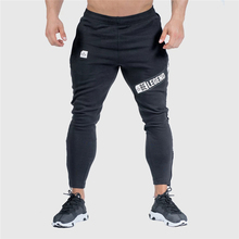 2019 Fashion Men Gyms Pants Joggers Fitness Casual Long Workout Skinny Sweatpants Jogger Cotton Trousers