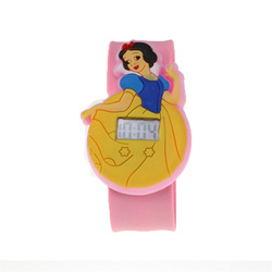 Cute Princess Watch Girls Kids Watches Pink Silicone Slap Clock Children's Cartoon Wristwatches Toy Gifts for Kids Girl