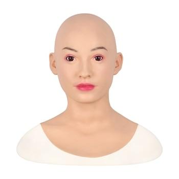 Belice Face Mask Realistic Soft Silicone Female Mask for Masquerade Halloween Mask For Crossdresser Drag Queen Transgender 3G