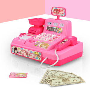 Toy Cash-Register Light-Market Role-Play Child Pretend-Play-Perfect Kids Plastic Gift