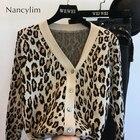 Leopard Cardigan Swe...