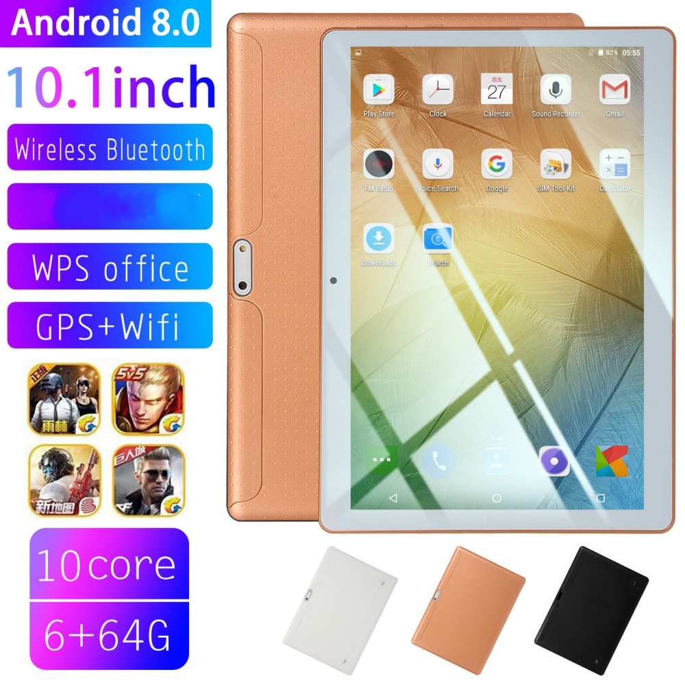 2020 NEW 10 Inch Android 8.0 Tablet Pc 10 Core Original Powerful 6GB RAM 64GB Dual SIM 4G Phone Call Tab Phone Pc Tablets