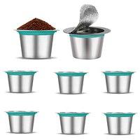 8Pcs Edelstahl Nachfüllbare Kaffee Versiegelt Box Reusable Kaffee Filter für Nespresso|Kaffeefilter|   -