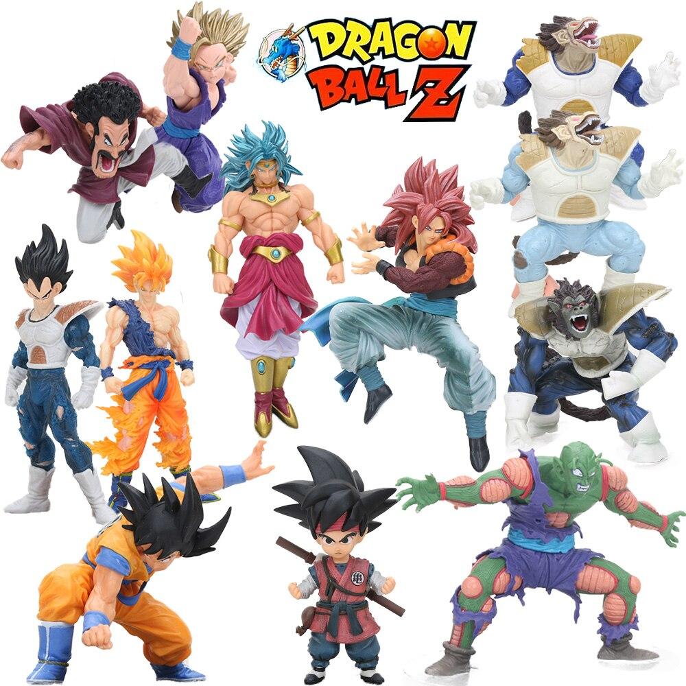 10-21cm Dragon Ball Z Figure Toys Super Saiyan Son Goku Gohan Vegeta Broly Action Figure Scultures BIG Budokai Tenkaichi 7 Model