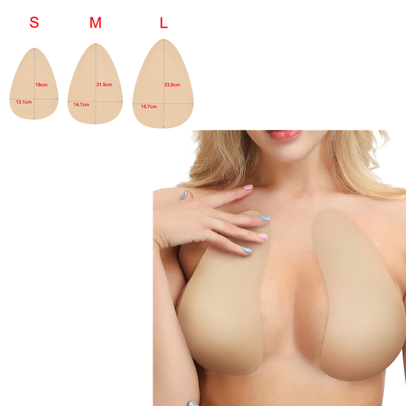 1 Pair Invisible Chest Sticker Disposable Adhesive Breast Lift Tape Sweatproof Breast Nipple Cover Pads Natural Color 3 Size