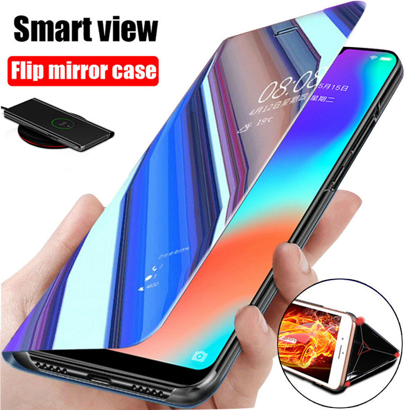 Mirror Flip <font><b>Case</b></font> for Huawei P30 Lite <font><b>P20</b></font> Lite Mate 20 P 30 Light Psmart Z <font><b>360</b></font> Soft Phone Back Cover <font><b>Cases</b></font> For Hawei P Smart 2019 image