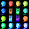 2020 Upgrade 13 LED RGB Submersible Light With Magnet and Suction Cup Swimming Pool Light Underwater Tea Night Light for Pond promo