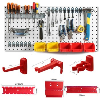 Steel Wall-Mounted Tool Parts Storage Box Hardware Tool Organize Box Hanging Board Garage Unit Shelving Components Tool Box