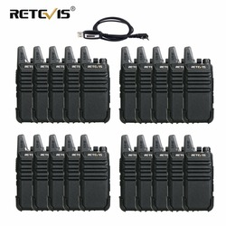 20pcs RETEVIS RT622 RT22 Handy Walkie Talkie Set VOX USB Charge Portable Two Way Radio Transceiver Walkie-Talkie Walkie Talkies