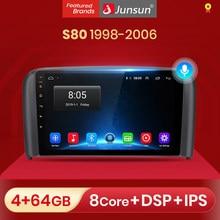 Junsun – autoradio V1 pro, Android 10, 2 go/32 go, Navigation GPS, lecteur multimédia vidéo, dvd, 2 din, pour voiture Volvo S80 (1998 – 2006)