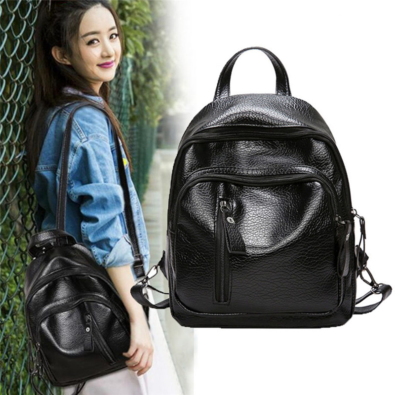 Casual Backpack Bags For Women 2020 Bookbag Youth Student Schoolbags Bags Pack Woman Back Pack Black Teen School Bags For Girls