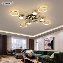 Lámparas de araña LED modernas regulables para dormitorio, sala de estar, cocina y salón, iluminación para el hogar con Control remoto, novedad