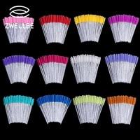 Zwellbe-paquete de 50 unidades desechables, cepillo para maquillaje de pestañas, mango de diamante, varitas para máscara, utensilio de extensión de pestañas